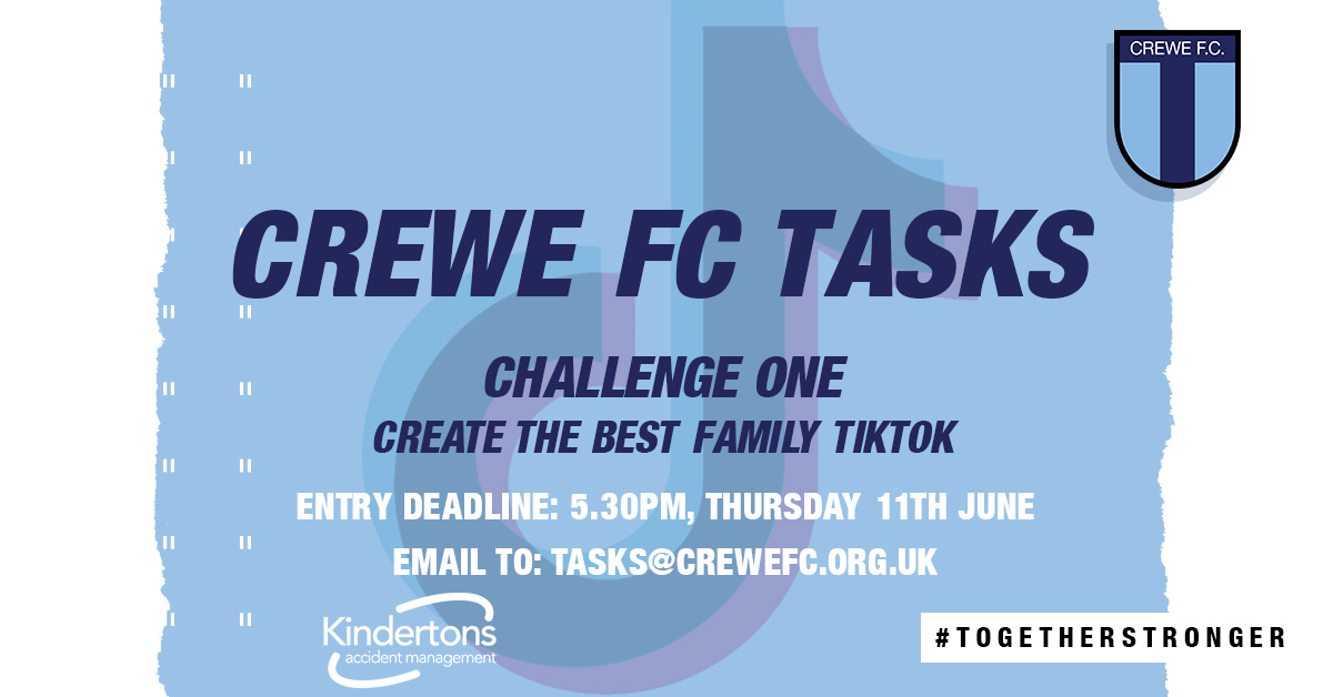 CREWE FC TASKS IS BACK!