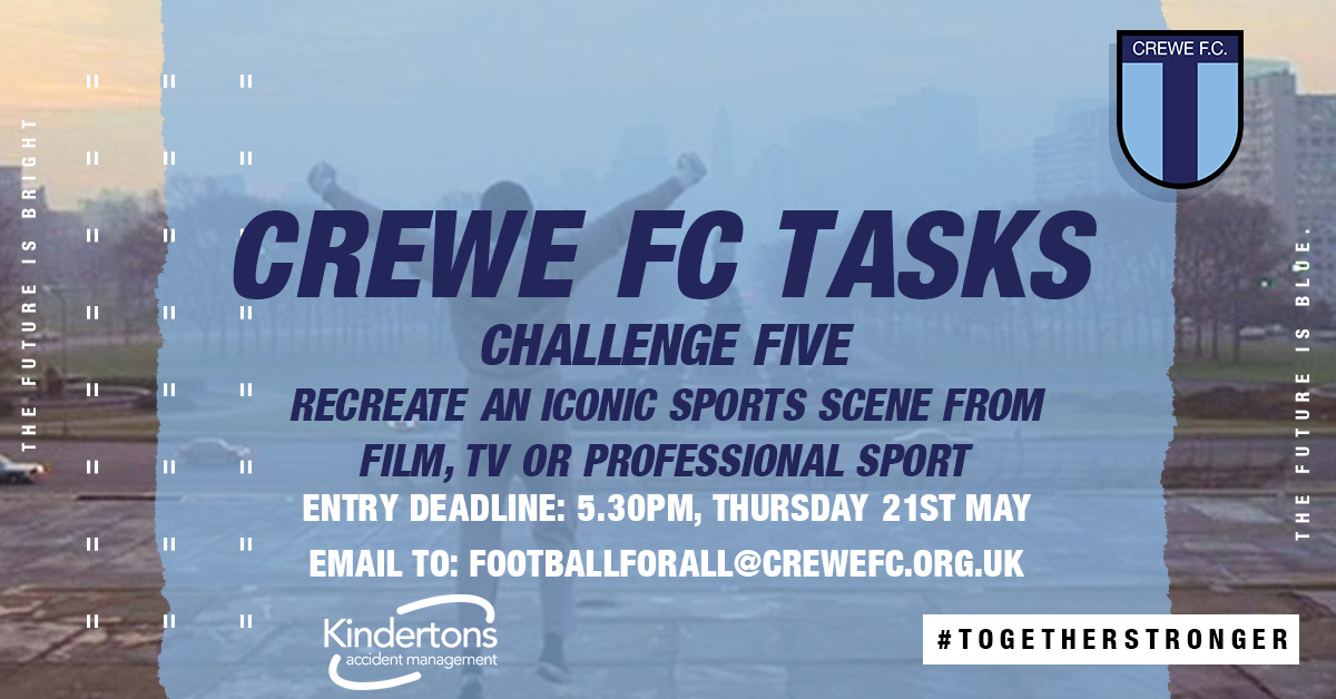 CREWE FC TASKS: CHALLENGE FIVE